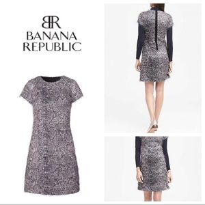 New Banana Republic Fringe Eyelash Shift Dress